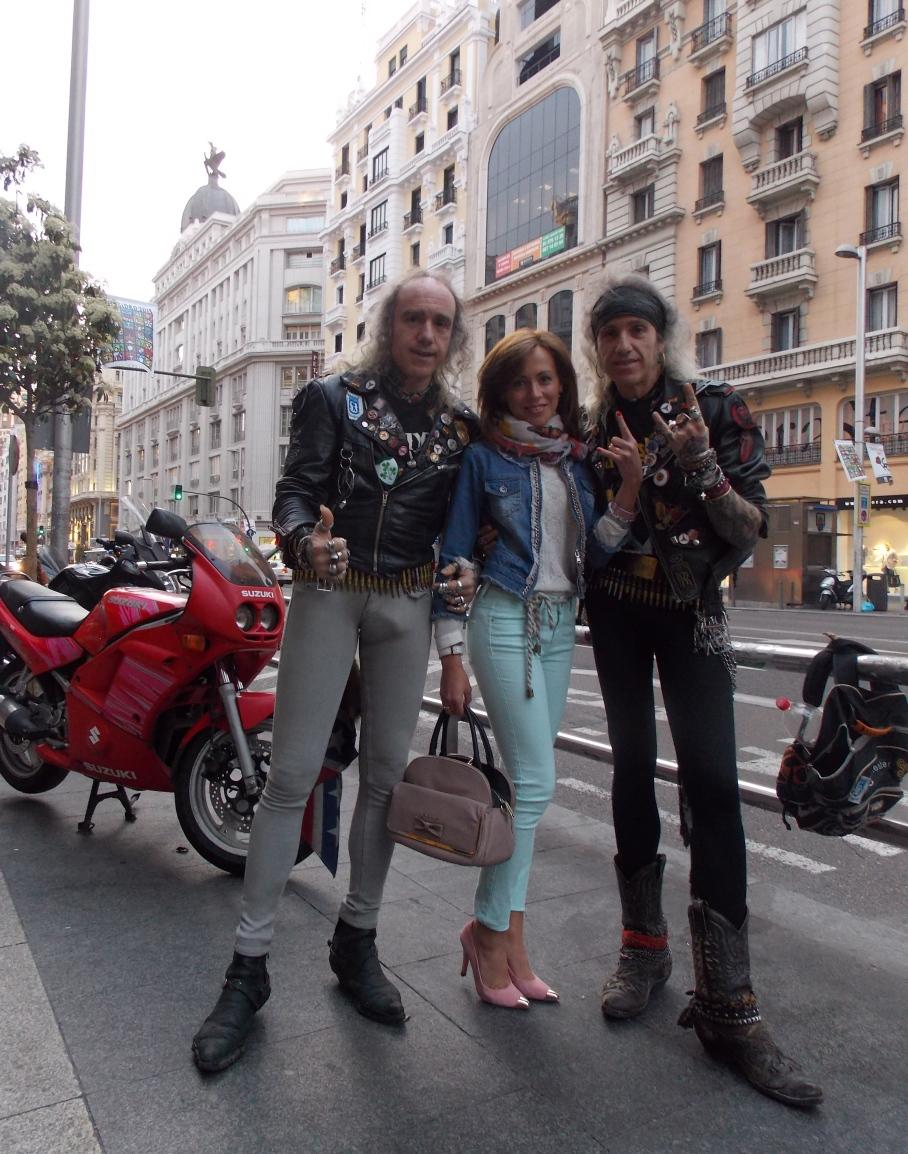 Rockeros en Gran Vía