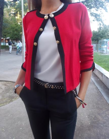 Combinar rojo y negro