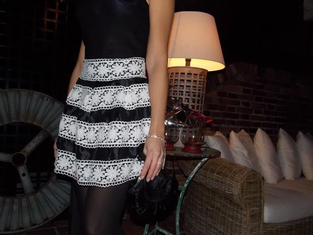 Combinar falda de crochet