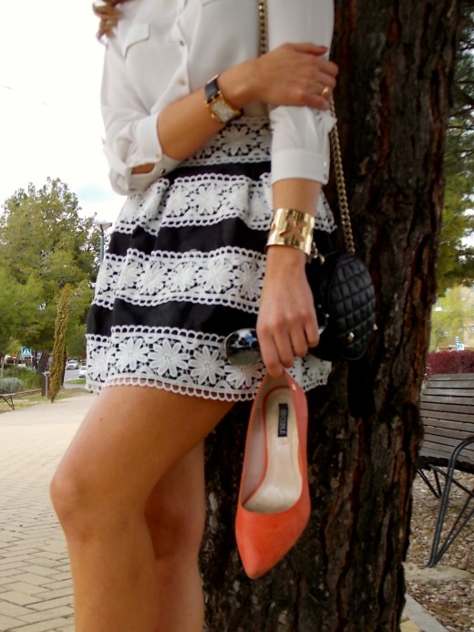 Faldas y shorts de crochet