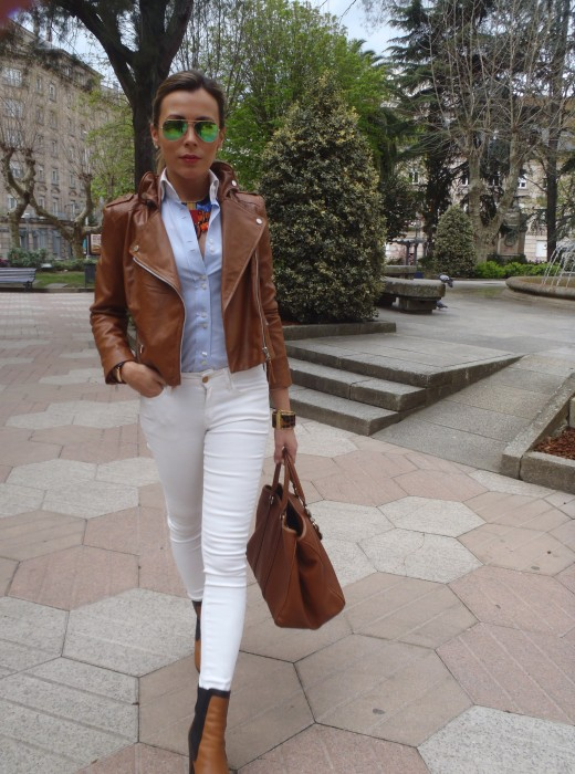 Total look con cazadora perfecta