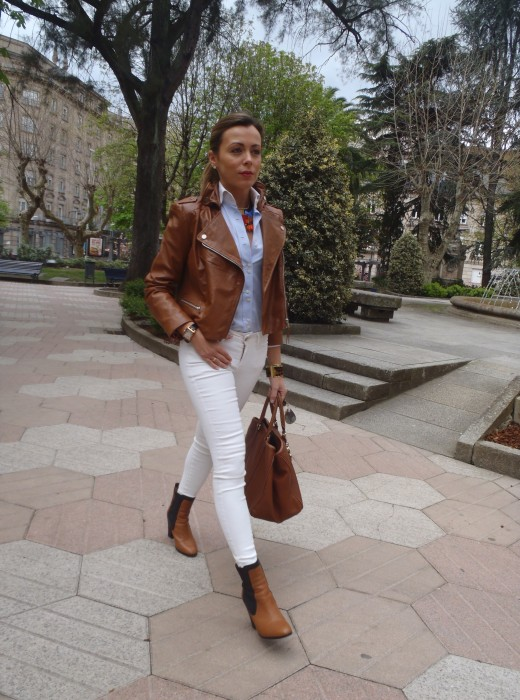 Camel and White look